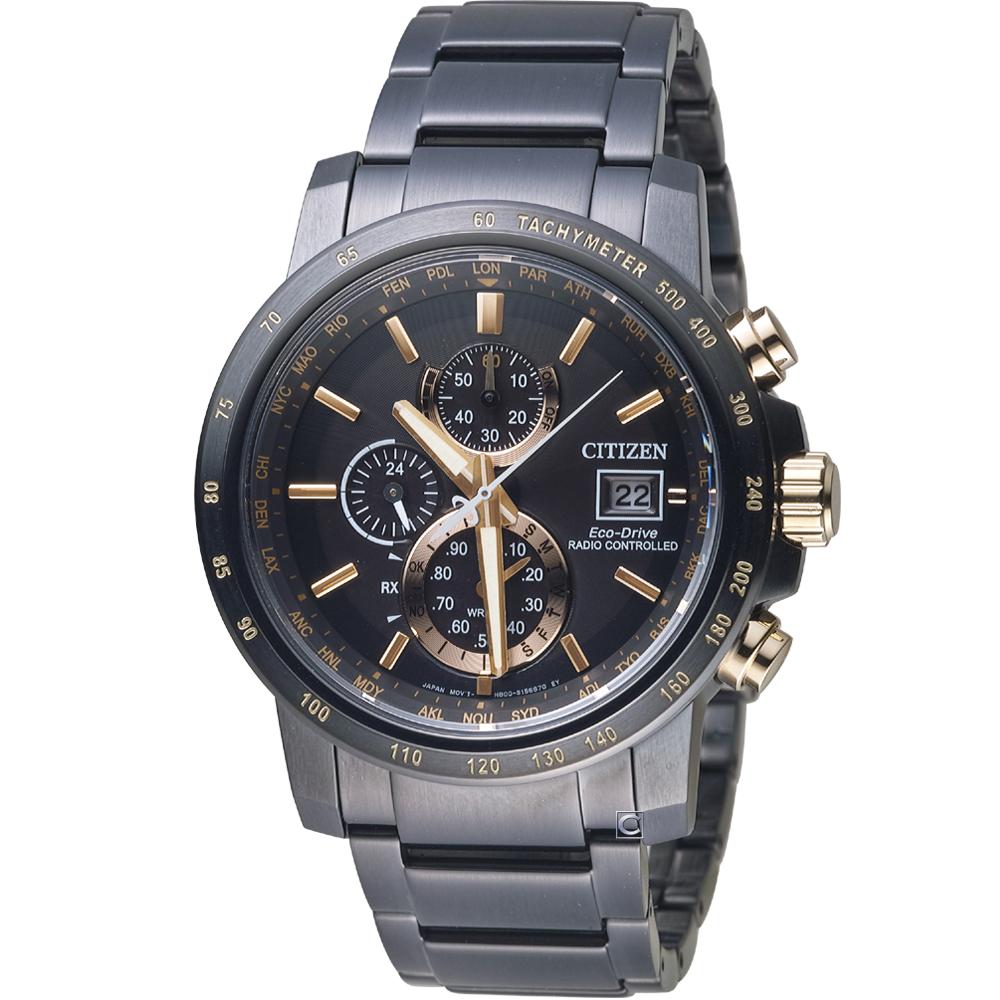 星辰CITIZEN GET'S系列代言人廣告款電波腕錶(AT8127-85F)