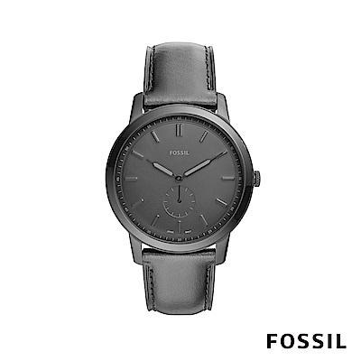 FOSSIL THE MINIMALIST 極薄款男錶-霧黑 約44mm FS5447