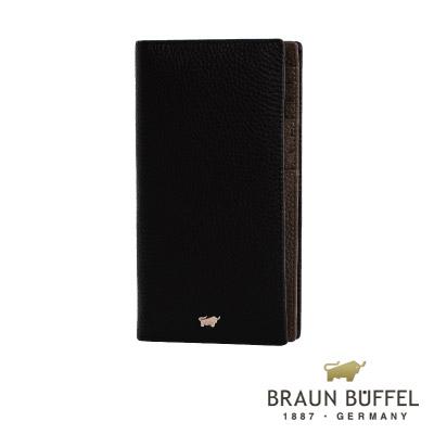 BRAUN BUFFEL - PLAYA佩雅系列15卡長夾 - 經典黑