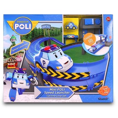 【麗嬰房】POLI 迷你波力特技軌道系列-龍捲風彎圈組