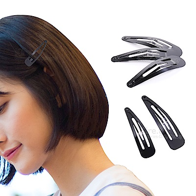kiret DIY髮飾黑色 超薄型 BB髮夾 (中+小超值24入)