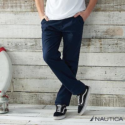 Nautica 經典款修身直筒長褲 -深藍