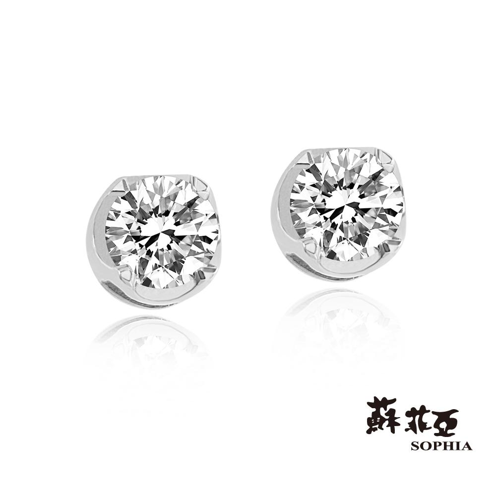 蘇菲亞SOPHIA 耳環-心的跳動0.15克拉鑽石耳環(共2色)