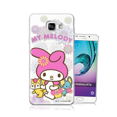三麗鷗正版 美樂蒂 Samsung Galaxy A7 (2016)透明軟式保護...