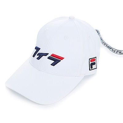 FILA 經典款六片帽-白HTS-1001-WT