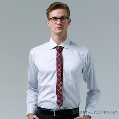 ROBERTA諾貝達 台灣製 不易起皺 速乾細條紋長袖襯衫 淺藍