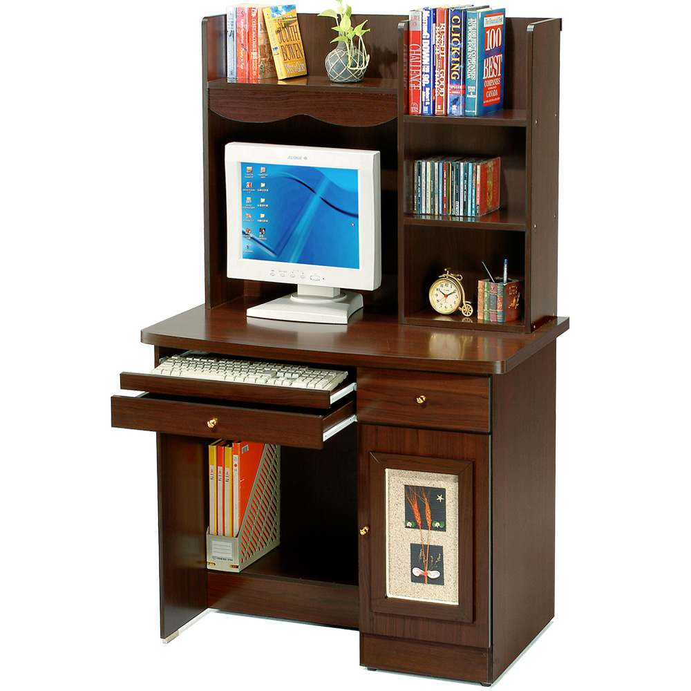 Homelike 自然風味電腦書桌(二色任選)