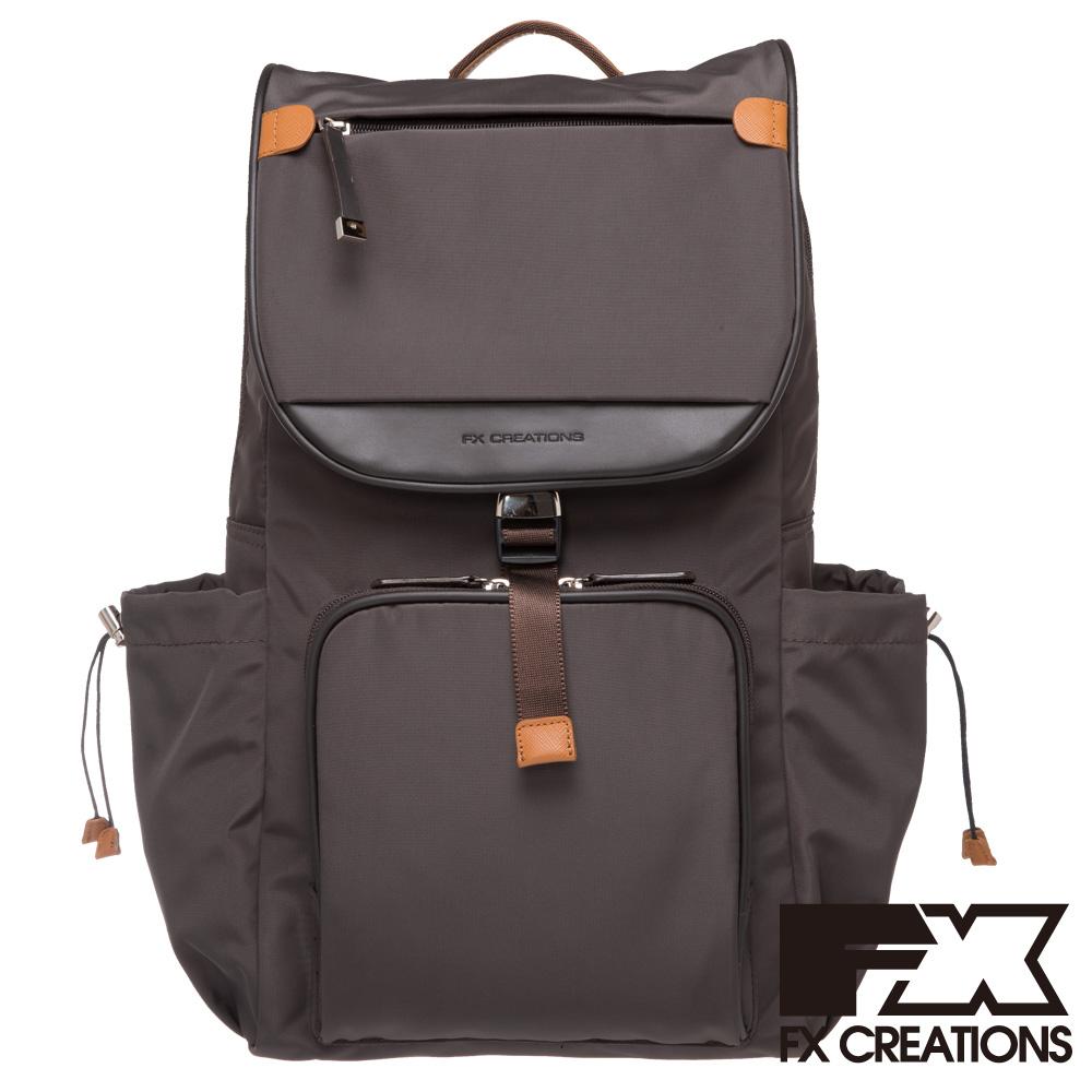 FX CREATIONS Dexter系列 AGS電腦後背包-咖啡