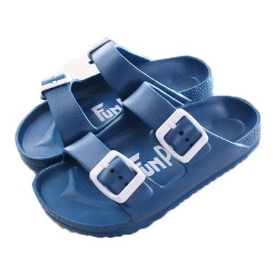 經典雙扣拖鞋 藍 sd0178 魔法Baby