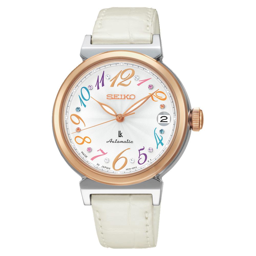 (無卡分期6期)SEIKO LUKIA 限量款美好旅程晶鑽機械錶-銀x白/33mm
