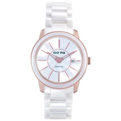GOTO 冒險輕盈時尚腕錶-IP玫x玫刻度/39mm