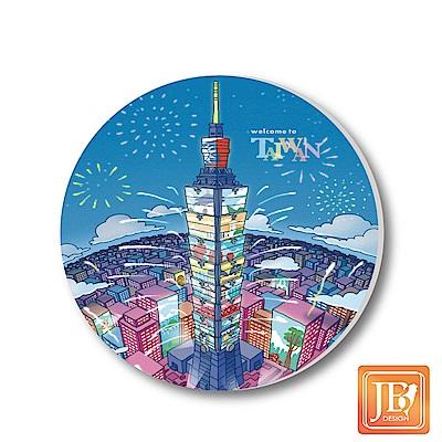 JB-Design陶瓷吸水杯墊796-台北煙火(快)