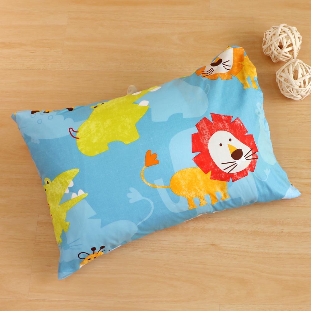 鴻宇HongYew 美國棉防蹣抗菌 快樂獅子-兒童透氣多孔纖維枕