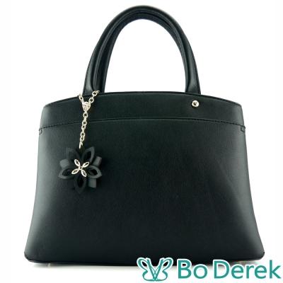 Bo Derek 緹花吊飾手提/斜背包-黑色