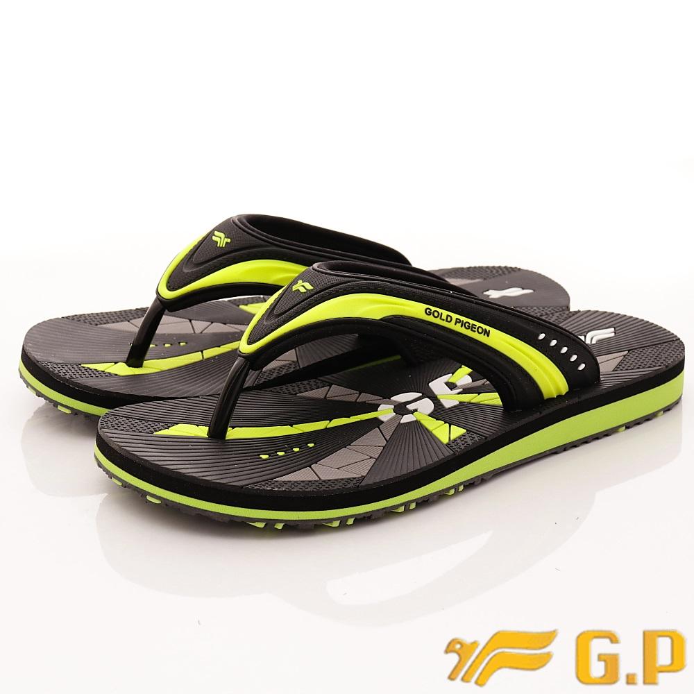 GP時尚涼拖-休閒舒適夾腳拖鞋-SE565M-60綠(男段)