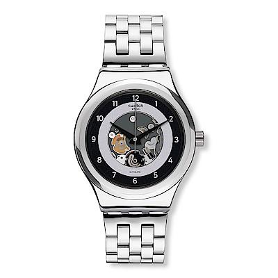 Swatch 51號星球機械錶 SISTEM LACQUE 鏤空衛星手錶