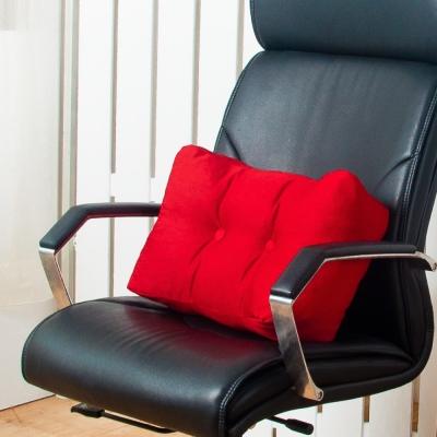 IDENG 波浪靠枕 多功能腰靠枕-紅色