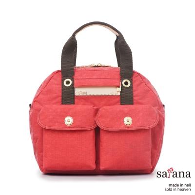 satana - 旅行保齡球包/後背包 - 漿果紅