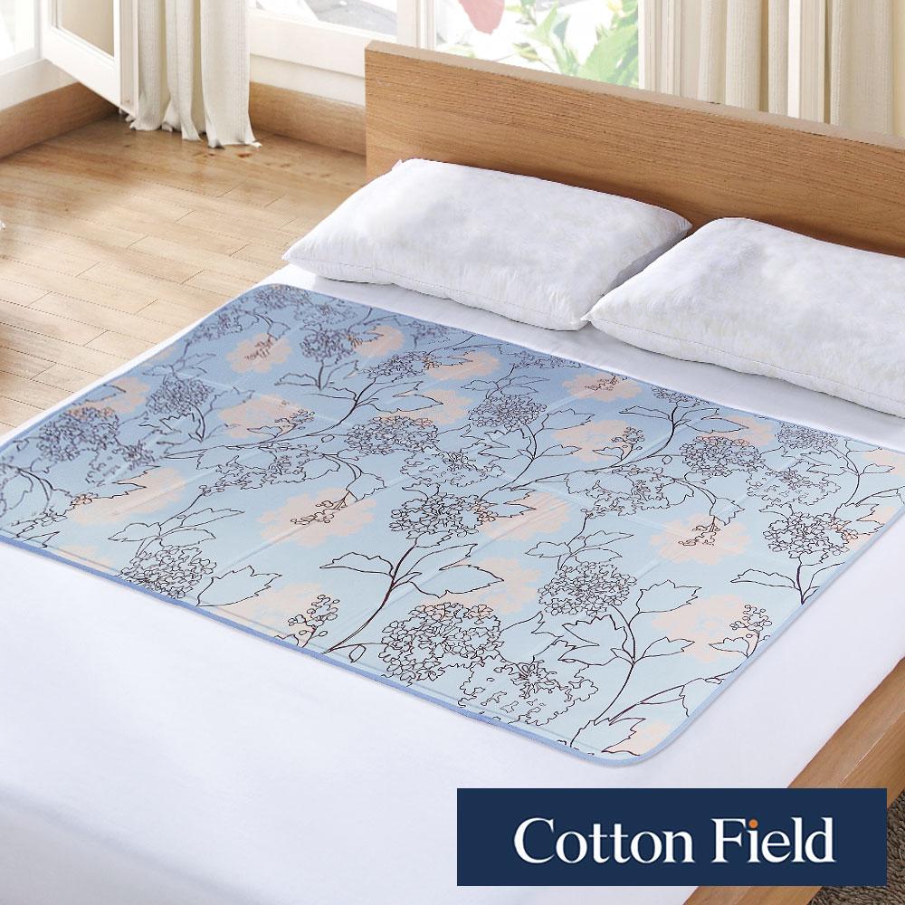 棉花田 雪之宿 花卉低反發冷凝床墊-湖水藍(90x145cm)