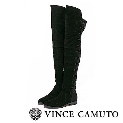 Vince Camuto 後交叉綁帶拼接顯瘦長靴-黑色