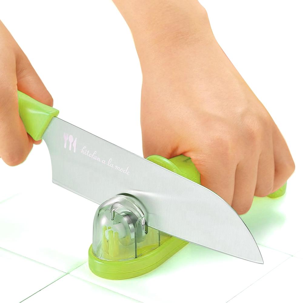 【促銷】日本製造Shimomura金剛石三用磨刀器(蘋果綠)