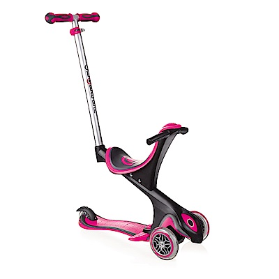 2018法國GLOBBER哥輪步EVO兒童5合1三輪滑板車-粉桃色