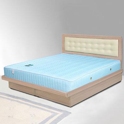Homelike 艾凡5尺掀床組+獨立筒床墊-雙人(二色任選)