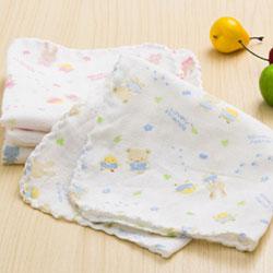 DF 親子館 - 寶寶紗布手帕/紗布洗澡巾/口水巾(12入)
