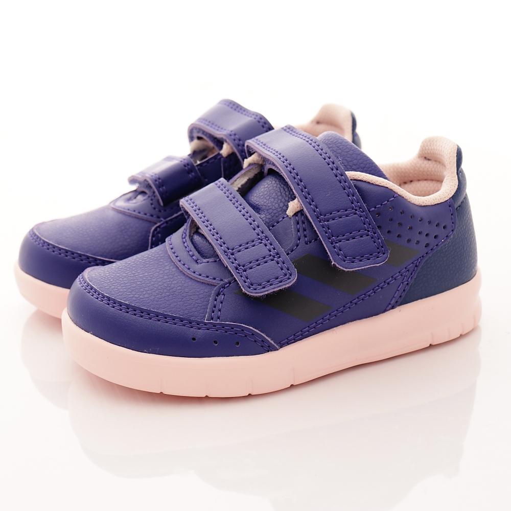 adidas童鞋輕量皮質款BSI203藍寶寶段H