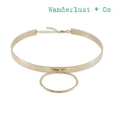 Wanderlust+Co 澳洲時尚品牌 金屬圓圈時尚頸鍊(可調節)