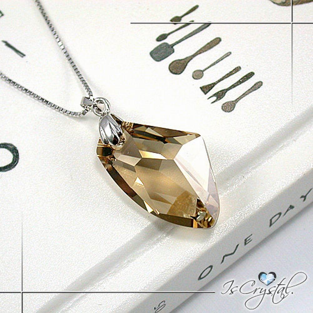 伊飾晶漾iSCrystal 金檳隕石純銀項鍊