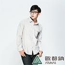 【ATUNAS 歐都納】男款吸溼排汗抗UV長短袖襯衫 A-S1504M 灰卡