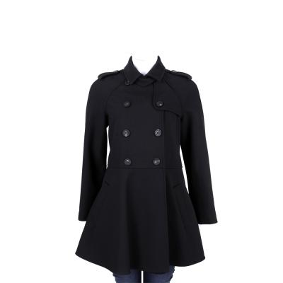 RED VALENTINO 黑色雙排釦設計外套