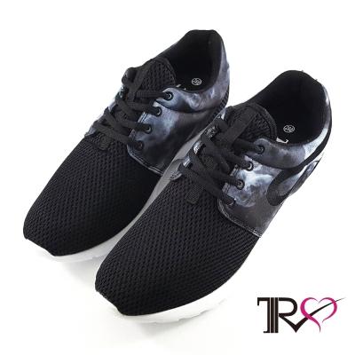 【T2R】韓國T2R空氣增高鞋內增高7公分休閒男鞋-水墨黑
