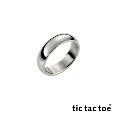 tic tac toe 素面白鋼女尾戒(窄)