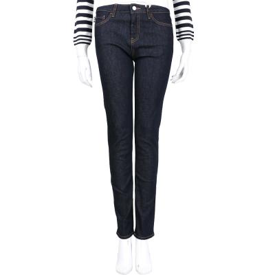LOVE MOSCHINO 深藍色刺繡女孩圖案牛仔褲
