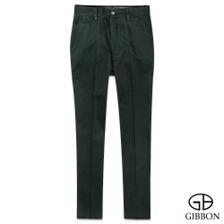 GIBBON 彈性舒適修身卡其褲‧墨綠色30~42