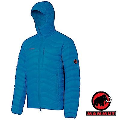【MAMMUT 長毛象】男 Broad 連帽防風保暖鵝絨羽絨外套_藍