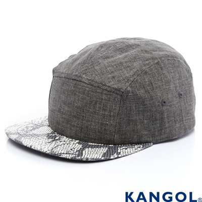 KANGOL-英國袋鼠-經典系列-蛇皮紋棒球帽-灰色