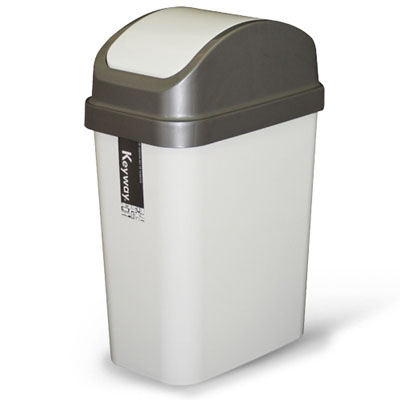 《創意達人》15公升附蓋垃圾桶(3入)