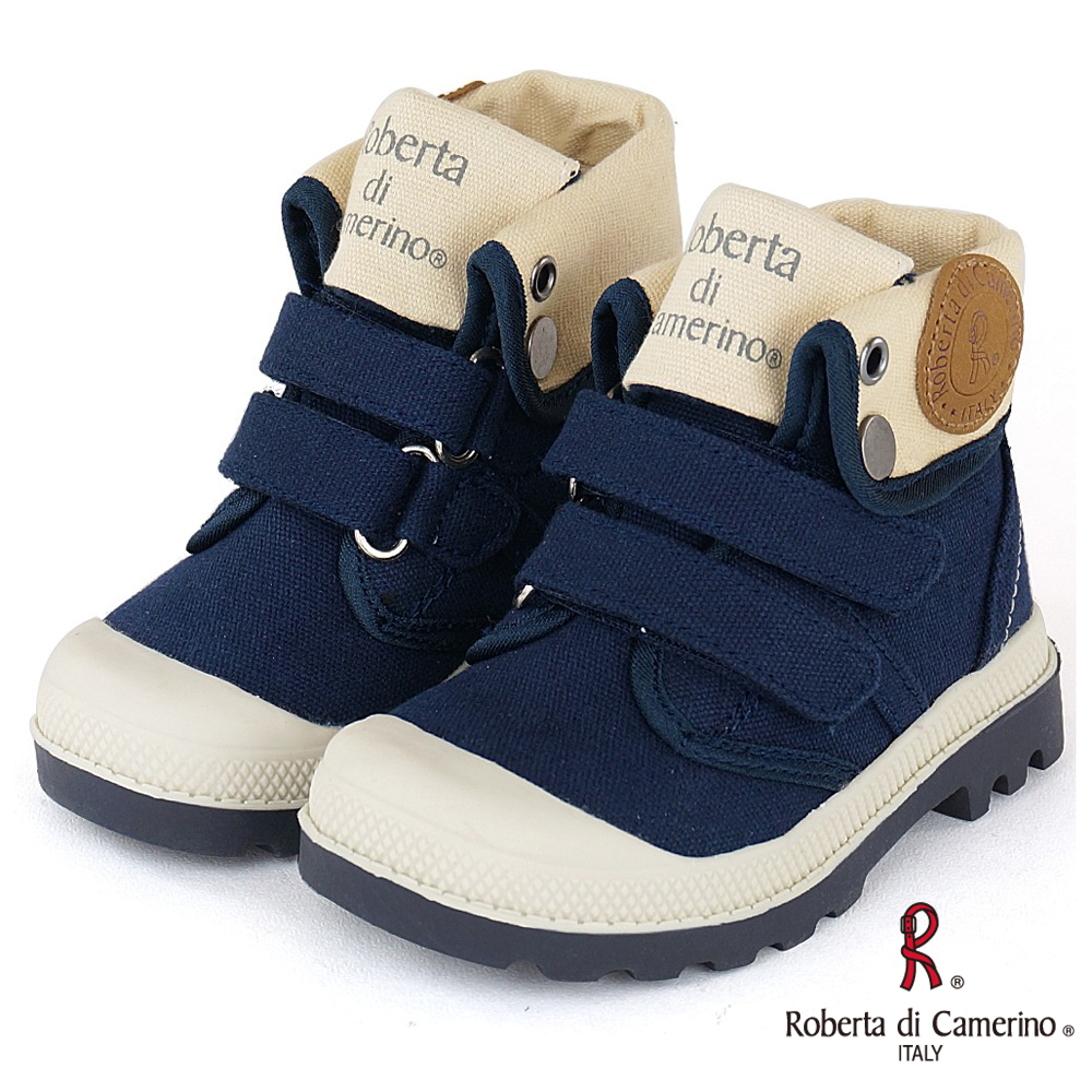 Roberta諾貝達 歐美小型男必備軍靴童鞋-藍(中大童)