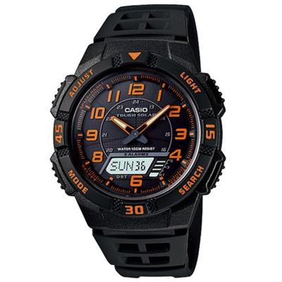 CASIO 新城市陽光遊俠電子運動錶(AQ-S800W-1B2)-橘刻度/42mm