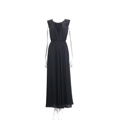 Max Mara-SPORTMAX 深藍色抓皺長裙洋裝