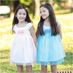baby童衣 女童洋裝 無袖玫瑰花造型網紗裙 52354