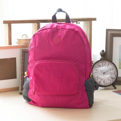 COUNT DUCK 美系悠活輕量輕巧收納後背包-CD-028-桃紅色