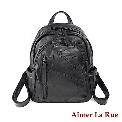 Aimer La Rue 後背包 羊皮達爾系列(黑色)