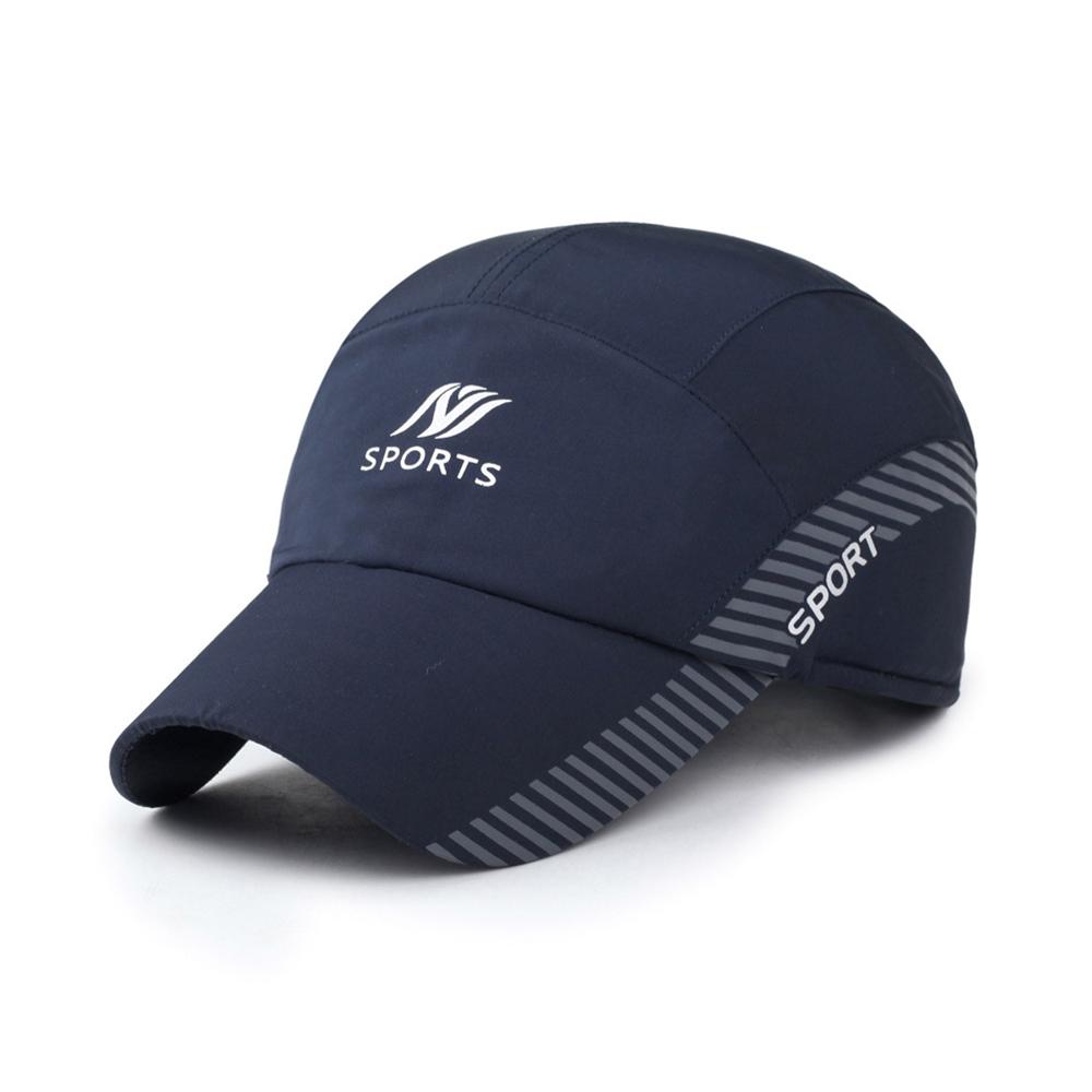 幸福揚邑 保暖防風吸濕排汗透氣速乾護耳棒球帽鴨舌帽-藍色