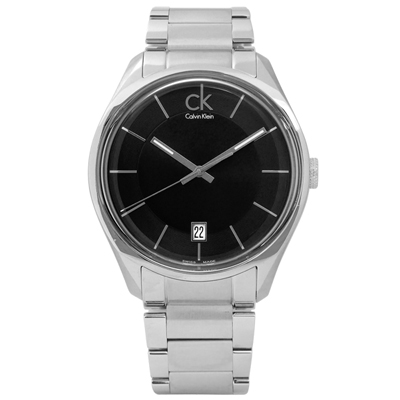 CK Masculine 摩登現代簡約層次不鏽鋼手錶 - 黑色 /42mm