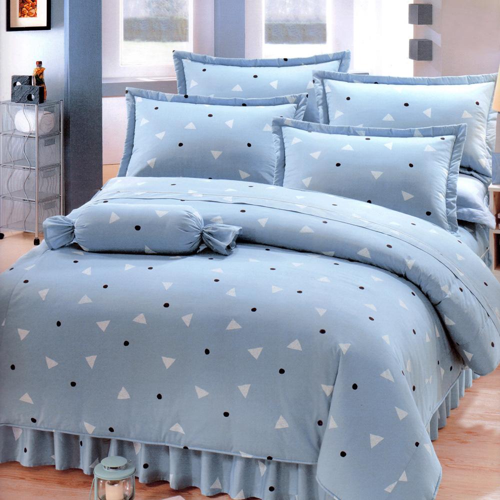 艾莉絲-貝倫 清新日和 100%純棉 單人鋪棉床罩五件組
