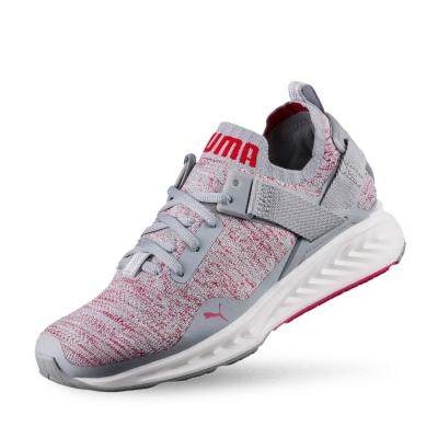 PUMA IGNITE evoKNIT Lo女性慢跑運動鞋-石頭灰